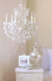 nursery chandelier 5 light antique white chandelier with pink