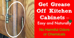 get grease off kitchen cabinets easy