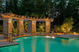 custom pool lighting outdoor inspirations with around images