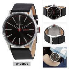 mens nixon watch nixon analog casual watch sentry black mens a105000