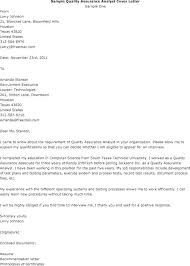 Quality Cover Letter Cover Letter For Quality Assurance Analyst