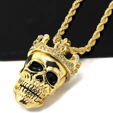 frequently bought together mens gold iced cz king head skull pendant
