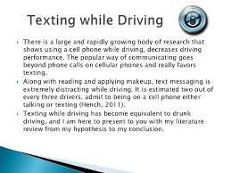 texting the new drunk driving 3 iuml129frac12 there is a large and rapidly growing body of research that shows using a cell phone while driving
