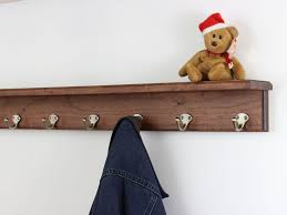 Cherry Coat Rack Solid Cherry Shelf Coat Rack With Single Style HooksMade In The USA 91