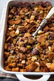the best thanksgiving dressing recipe with apples sausage savory herbs mushrooms