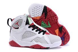 jordan shoes for kids. kids\u0027 air jordan 7 retro white/gray-red-black shoes for kids