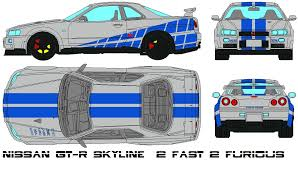 nissan skyline fast and furious drawing. Nissan GTR Skyline Fast Furious By Intended And Drawing