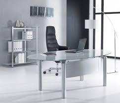 executive glass office desk. Minimalist Oval Glass Office Desk For Executive I