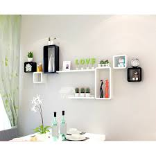modern wooden cube wall shelves wall