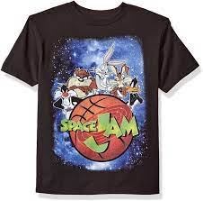 Amazon.com: Looney Tunes Boys' Space Jam Outer Space Short Sleeve T-Shirt:  Clothing