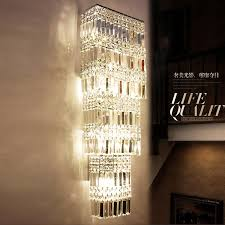long wall sconce lighting. aliexpresscom buy luxury fashion crystal wall lamp large lights sconce bedroom bedside clubs aisle entrance hallway light modern from long lighting