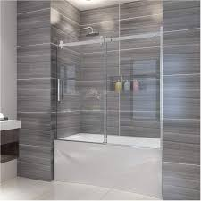elegant 60 w x 62 h frameless bath tub door 5 16 clear sliding shower glass panel bathtub shower door one direction sliding one fixed glass