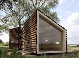 Contemporary Cabins Flake House By Olgga Architects A 237 Sq Ft Cabin In Two Pieces