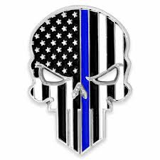 Polish your personal project or design with these punisher skull transparent png images, make it even more personalized and more attractive. Thin Blue Line Skull Pin Pinmart