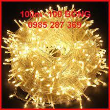 Dây đèn LED trang trí nháy chớp 50m/100m, trắng, vàng, nhiều màu lắp cây,  nhà, sân vườn tại Hà Nội