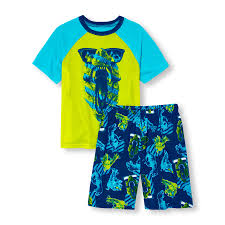 boys sleepwear the children s place ca off boys short raglan sleeve sunglasses dino top and printed shorts pj set