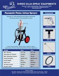sdse sd 63 airless sprayer warranty 2 year