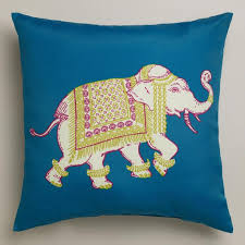 Elephant Outdoor Throw Pillow