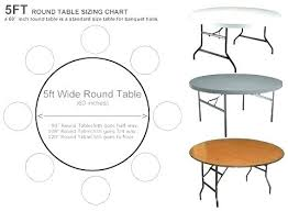round table size for 6 standard table sizes and seating round what size tablecloth for 6 round table size
