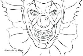 Coloring Pages Insider Clown With Pennywise Printable The