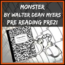 best monster resources images lesson planning  monster by walter dean myers pre reading prezi