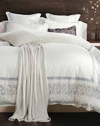 silver embroidery lace white bedding set king queen size cotton luxury royal bedspread inches duvet cover