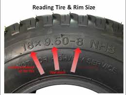 Lawn Mower Tire Tube Size Chart Lawnmower Tires How To Read The Numbers On The Sidewall Of