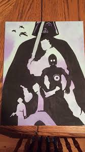 Darth Vader Star Wars canvas art silhouettes   Star wars painting, Star  wars canvas art, Star wars drawings