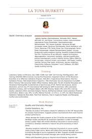 Chemist Resume Samples Visualcv Resume Samples Database