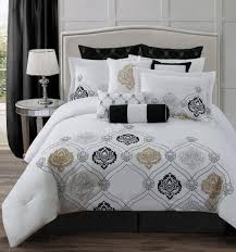amazing black and white bedding set with