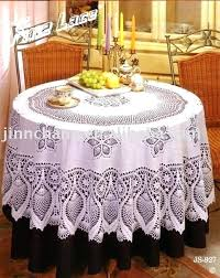 90 inch round vinyl tablecloth vinyl lace tablecloth free crochet patterns crochet something for all levels