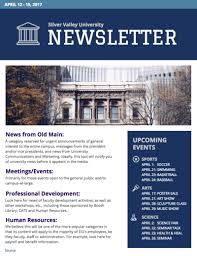 Music Newsletter Templates University Newsletter Templates Dermac Info