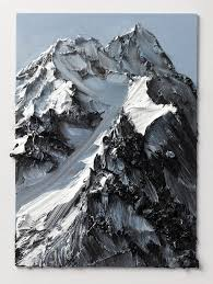 conrad jon lys abstract mountains drip from the canvas