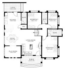 floor plan of a house with dimensions. Exellent Dimensions Floor Plan For Small House In The Philippines Unique Design Plans  2 Inside Of A With Dimensions