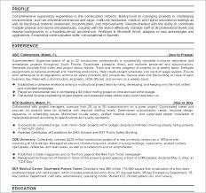 Superintendent Resume Samples Useful Materials For Construction ...