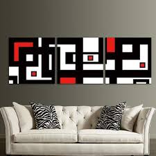 red black white design modern abstract wall art decor for living room on red black white wall art with red black white design modern abstract wall art decor for living
