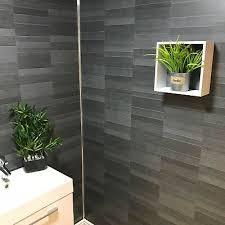 carbon modern tile effect bathroom wall