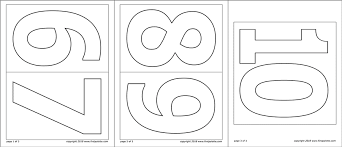 Number Cutouts Printables Numbers Free Printable Templates