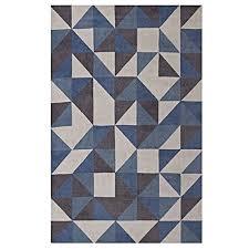 details about modway r 1014b 810 kahula geometric triangle mosaic area rug 8x10 blue white