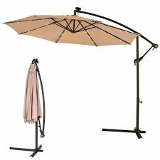 ft hanging umbrella offset tan color