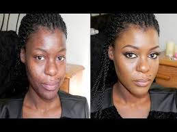 dramatic transformation with makeup hyperpigmented skin face care dark skin