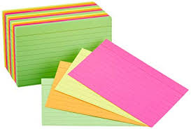 3x5 Cards Amazonbasics Ruled Index Flash Cards Assorted Neon Colored 3x5 Inch 300 Count