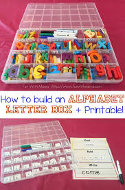 how to build an alphabet letter box for kids pin