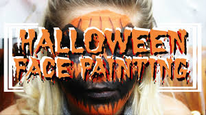 Scary Pumpkin Painting Easy Scary Pumpkin Halloween Face Painting Youtube