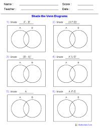 Shade Venn Diagram 10 This Venn Diagram Worksheet Is A Great Template Using