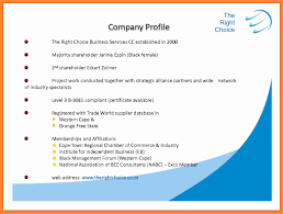Sample Format Company Profile As Well Doc With To Write Plus