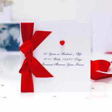 luxury ruby wedding anniversary cards for special 40th wedding anniversary