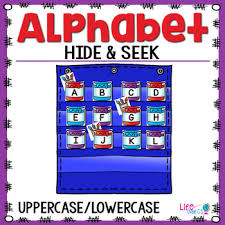 Alphabet Hide Seek Pocket Chart Cards Painting Theme