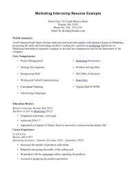 Resume Examples Internship