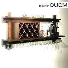 wooden wine rack wall mount mounted racks wood solid glass